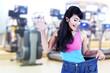 Asian woman loosing weight