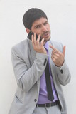 Businessman with his mobile phone