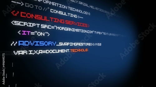IT Information technology animation code programming video