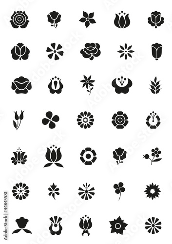 simply flower icons