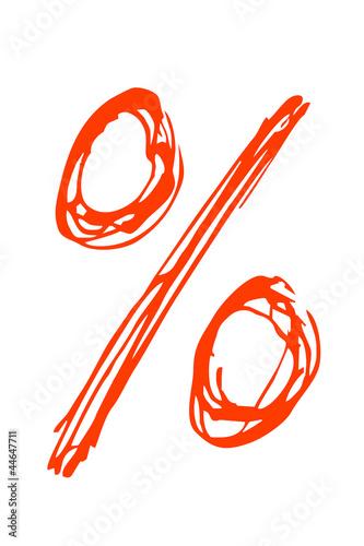 rotes Prozentzeichen...