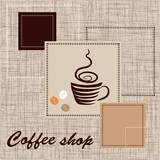 Fototapety Template of coffee shop
