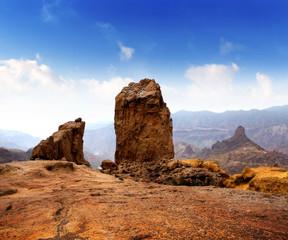 Gran canaria Roque Nublo blue sky