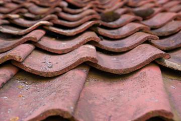 Vermoostes Dach