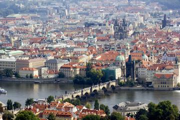 Blick über Prag vom Prager Eiffelturm