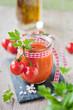 tomatensuppe im glas II