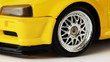 front wheel of toy radio-controlled car turns to right and left