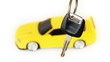 suspended key, back in defocus rotates toy car