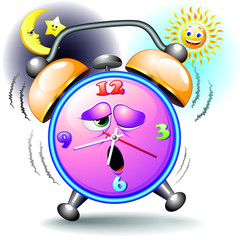 Alarm Clock Cartoon Sveglia Orologio-Vector
