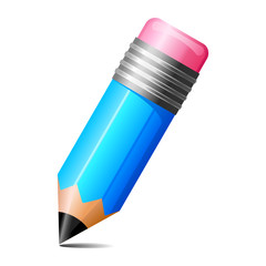vector illustration of pencil against white background