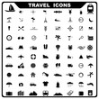 vector illustration of complete set of travel related icon