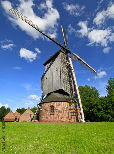 Wind mill during sunny day