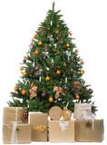 Fototapety gold-braun geschmückter weihnachtsbaum