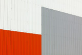 Abstract warehouse wall exterior poster