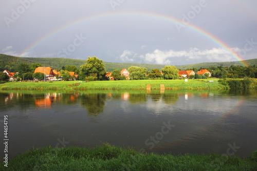 Schönes Weserbergland - Regenbogen