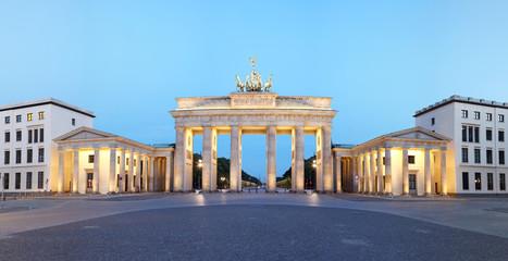 Berlin, Germany. Branderburger Tor panorama at dusk