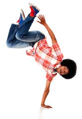 Man breakdancing