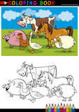 Farm and Livestock Animals for Coloring poster
