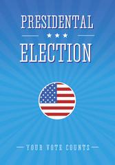 Presidental election poster