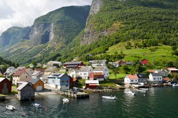 Promenade dans le fjord Nærøyfjord en Norvège