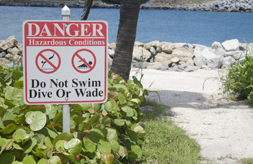Danger No Swimming