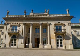 The Lazienki palace in Lazienki Park, Warsaw. Lazienki Krolewski
