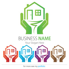 Company (Business) Logo Design, Vector, House, Tree