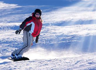 Snowboarder woman.