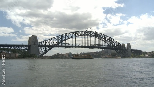 People climbing on Top of the Harbour Bridge in Sydney