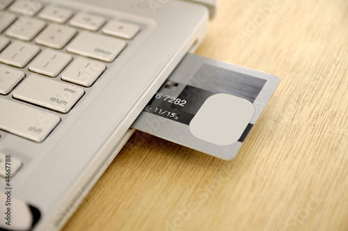 Credit Card Insert  Inside Laptop