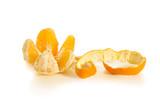 cleaned orange isolated on white background
