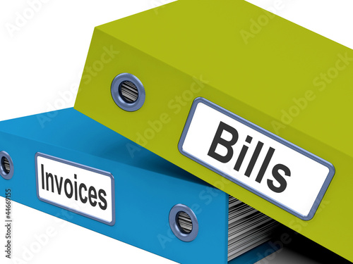 Bills And Invoices Files Show Accounting And Expenses