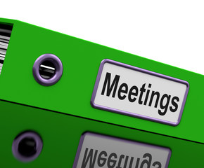 Meetings File To Show Minutes Of Company Discussion