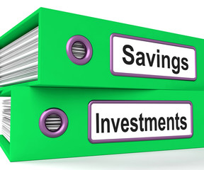 Investments And Savings Files Showing Growing Wealth