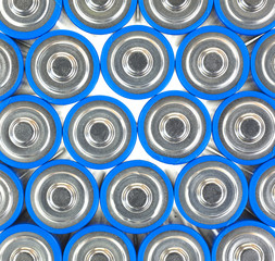 Close view of AA size batteries