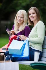 Shopping Women Using Digital Tablet