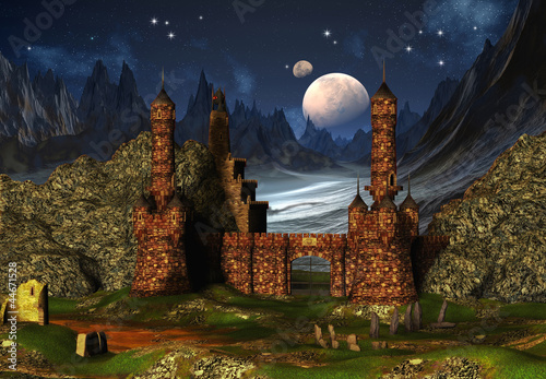 Fantasy Scene With A Castle