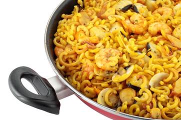 Fideua valencia of seafood