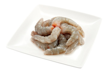 Peeled prawn dish