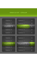 Vector User Interface Elements - Scrollers