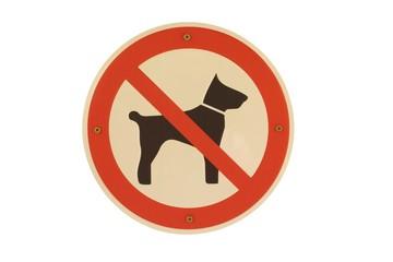 Schild Hund verboten rund freigestellt
