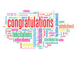 """CONGRATULATIONS"" Tag Cloud (achievement successful well done)"
