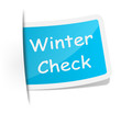 Schild Winter Check