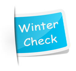 Schild Winter Check