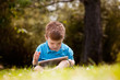Young Boy with Digital Tablet