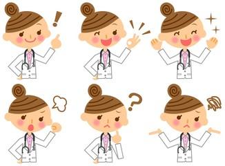 医師 女医 表情