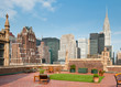 New York City terrace over Manhattan skyline view