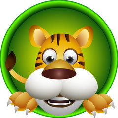 cute tiger head cartoon