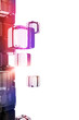 Abstract background with technological cubes