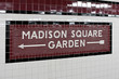 Madison Square Garden - New York city subway sign tile pattern